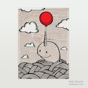 Narwhal with Balloon