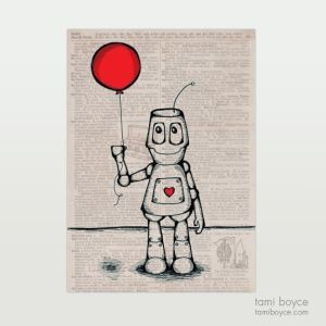 Robot with Balloon