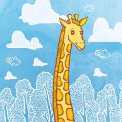 giraffe in clouds copy
