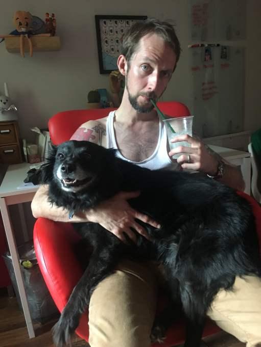 Drinking buddy pup