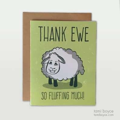 Thank Ewe Card Set