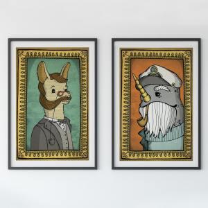 llama and narwhal
