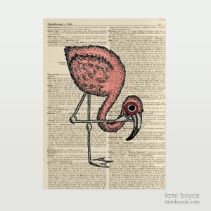 Flamingo Harold Monocle