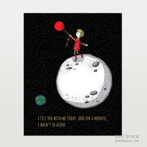Say Love less alone Balloon, boy