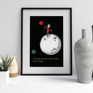 Say love_balloon moon, less alone, boy