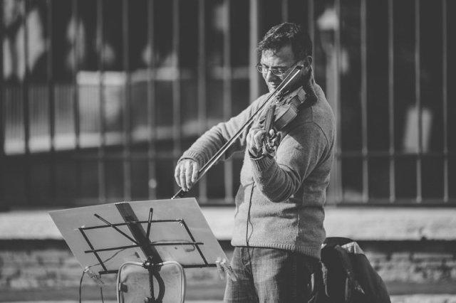 Musician outside of Vatican City