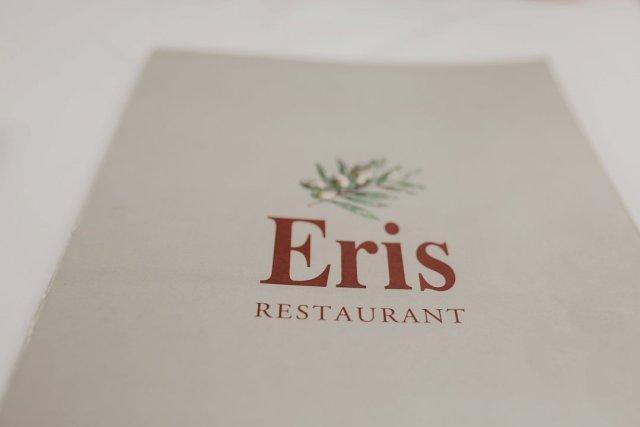 Menu for Eris Restaurant in Plaka - Athens Greece.