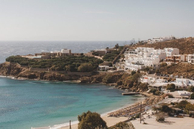 View from the Alkistis Hotel in Mykonos by photographer Tami Keehn