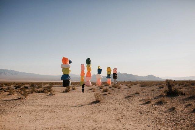 Seven Magic Mountains in Las Vegas by photographer Tami Keehn