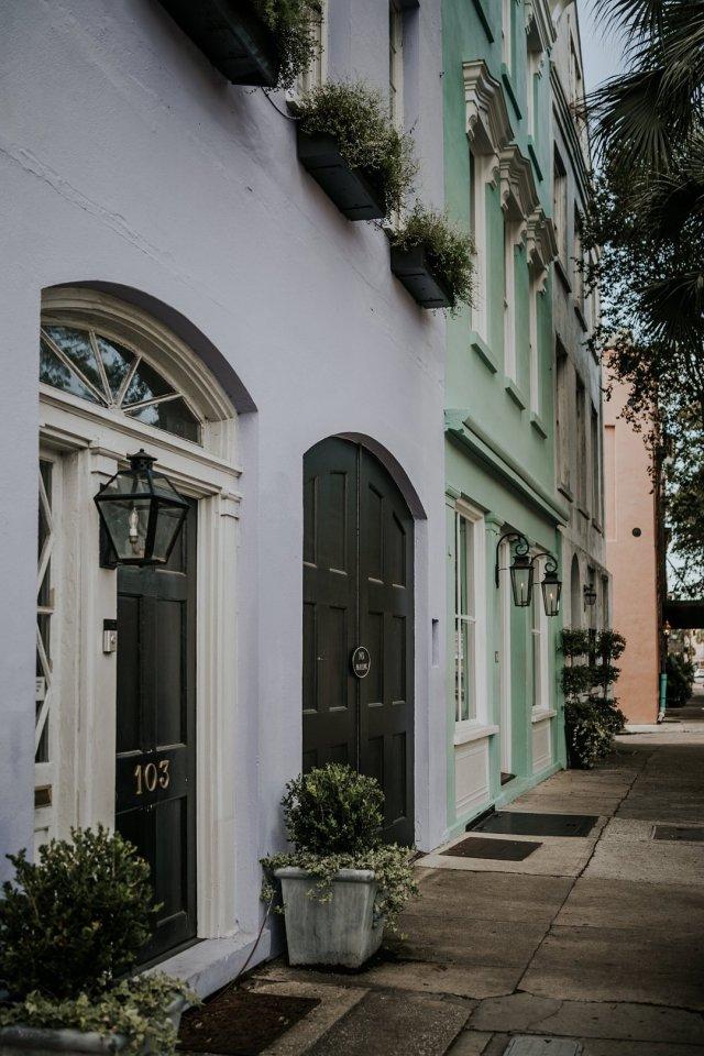 Rainbow Row in Charleston, SC