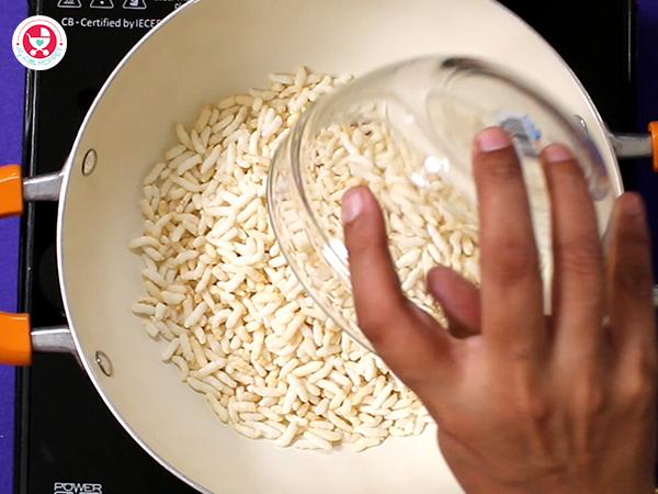 Add puffed rice