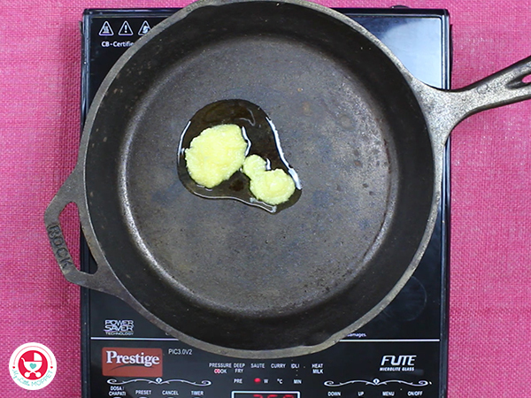 Heat ghee in a pan