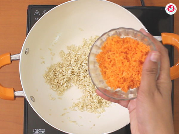 Add grated carrot