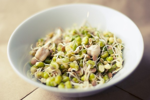 Raw or under cooked sprouts