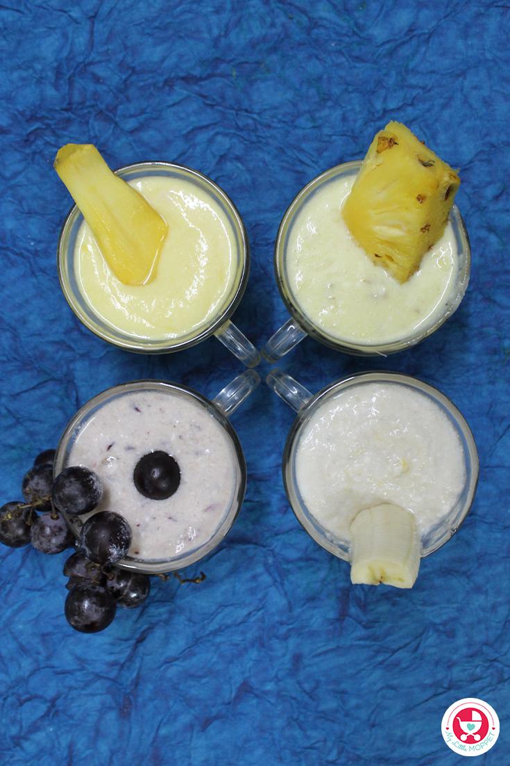 4 Fruit Yogurt Recipe for Babies in Tamil: