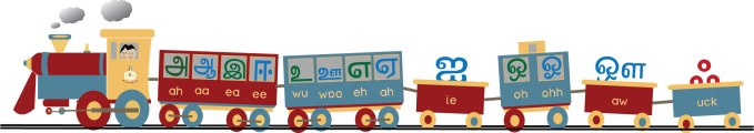 A picture of Tamil vowels