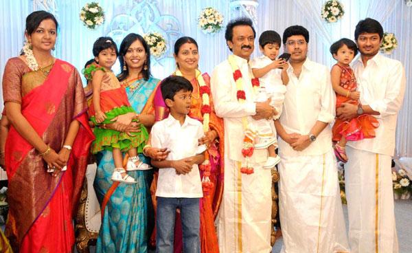 Stalin - Sabareesan - Udhayanidhi with Family