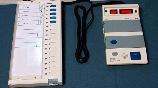 Indian votting machine can manipulate the number