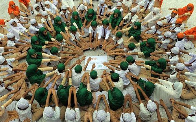 TOPSHOTS  Anjuman-E-Islam schoolchildren