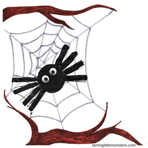 Learn how to make a toilet roll stamp spider for kids to create art with. Toddlers and preschoolers will love decorating for Halloween with this fun and easy spider craft.