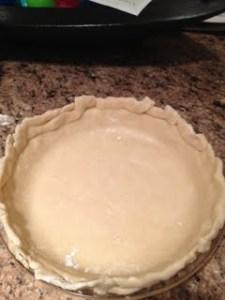 PIe crust formed
