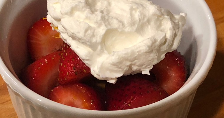 Treat Tuesday-Strawberries Romanoff