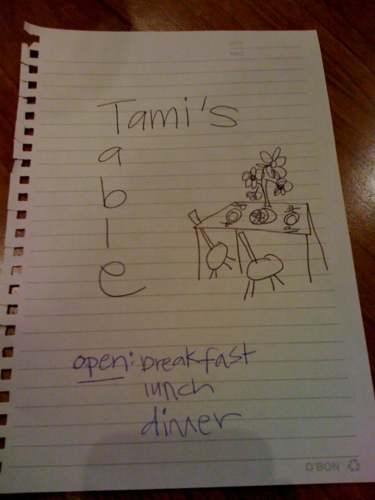 Welcome to Tami's Table! (1/2)
