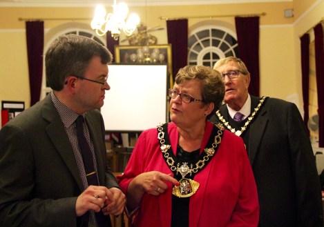 Mayor of Tamworth speaks to Dr Gaunt