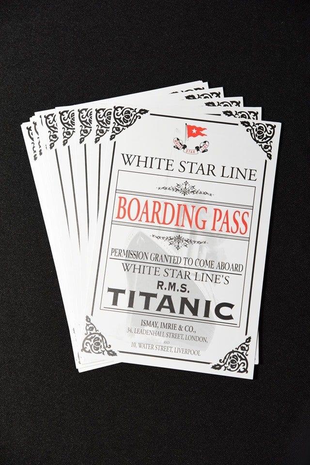 Titanic Expo Boarding Passes
