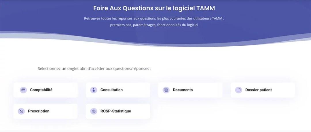 Foire aux questions du logiciel TAMM