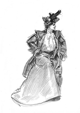 history, women, Victorian era, Progressive era, turn-of-the-century, New Woman, Gibson Girl