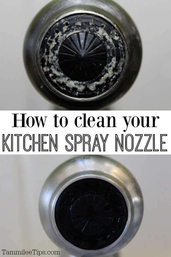 how to clean your kitchen spray nozzle