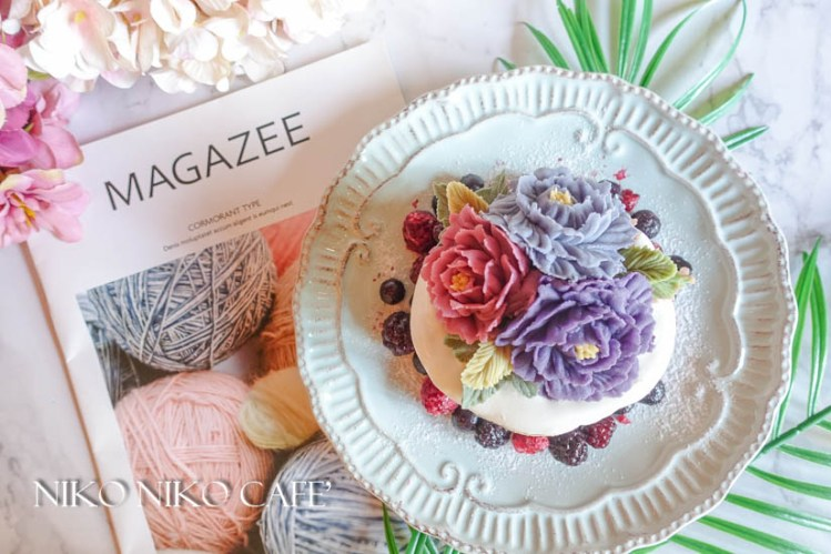 《樹林美食》Niko Niko Cafe'韓式裱花厚鬆餅 延禧攻略風之史上最華麗鬆餅
