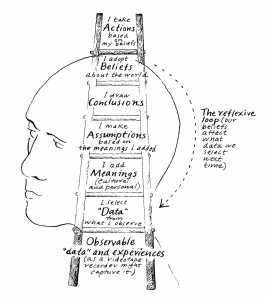 a detailed schematic of the ladder of inference