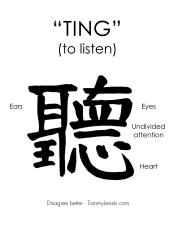 Ting - to listen