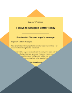 7 ways to disagree better today email series