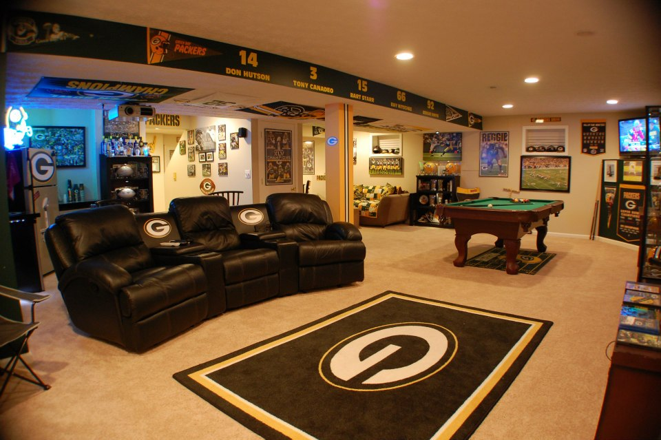 Man Cave Review : Packers man cave rug carpet review