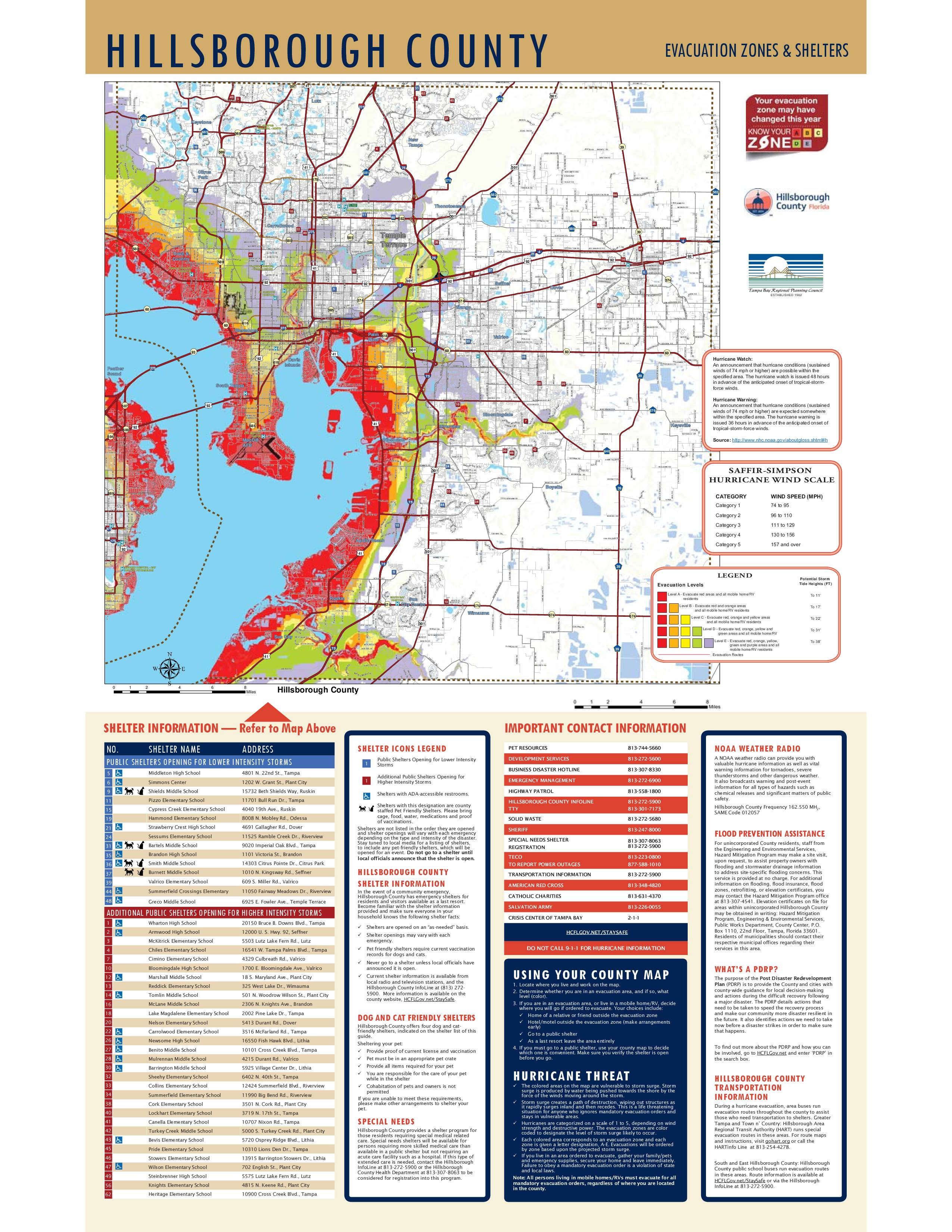 Hillsborough County Evacuation Routes for Hurricane Irma
