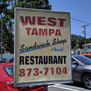 West Tampa Sandwich Shop Sign