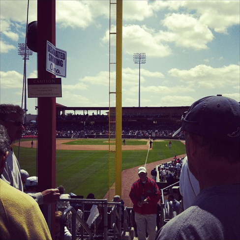 Just another beautiful sunny -- if a touch chilly -- day at the ballpark (Photo courtesy of Schmitty/X-Rays Spex)