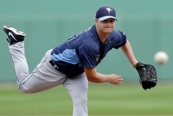 "Rays starter Alex Cobb loses his spring scoreless streak after 13 innings but continues his impressive camp with 5⅓ sharp ""get-your-work-in"" innings against the Red Sox."