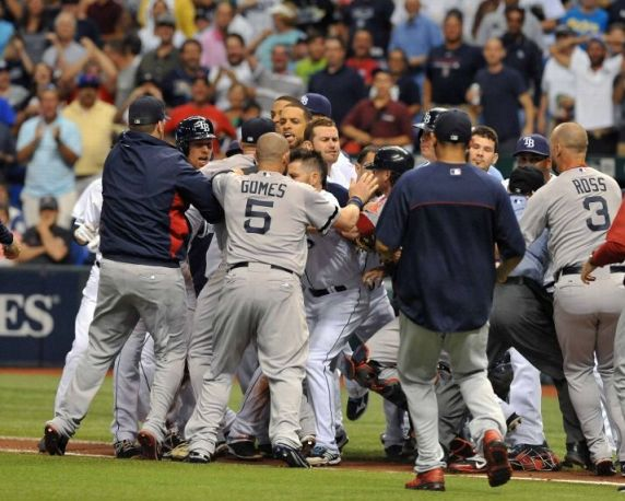 Jonny Gomes vs Luke Scott? Nobody wins in that fight...except all of us watching!