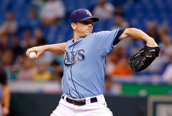 Jeremy Hellickson pitches against the Detroit Tigers. (Photo by J. Meric/Getty Images)