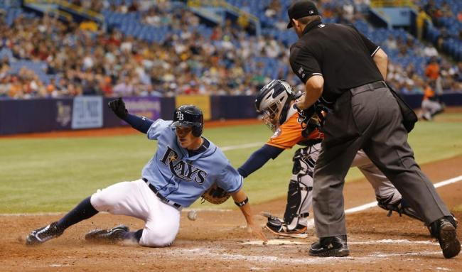 The Rays were victorious Sunday, beating the Astros by a score of 5-2 in the series finale. (Photo courtesy of the Tampa Bay Rays)