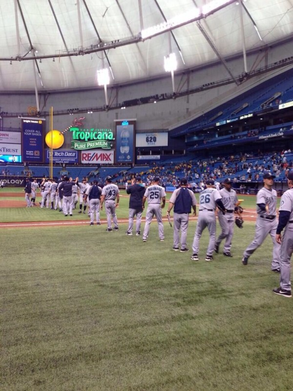 The Seattle Mariners cha-cha line, following the Rays 3-0 loss.