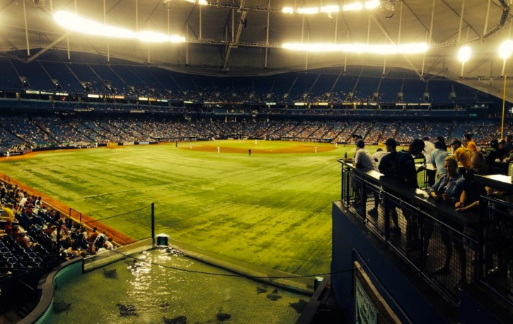 An eighth inning panoramic shot of the Trop, from the friendly confines of The Porch.