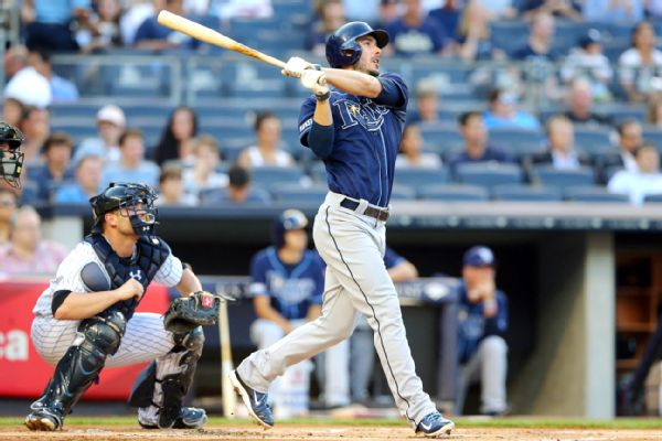 The Tampa Bay Rays traded outfielder Matt Joyce to the Halos for right-handed reliever Kevin Jepsen. (Mandatory photo credit is watermarked)