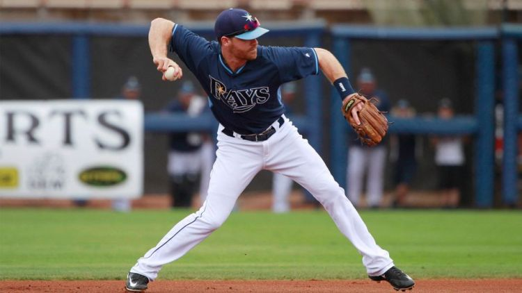 Tampa Bay Rays second baseman Logan Forsythe (11) hit .315 with two home runs, five RBI and an .814 OPS in 54 June plate appearances last season. (Photo courtesy of Kim Klement/USA Today Sports)