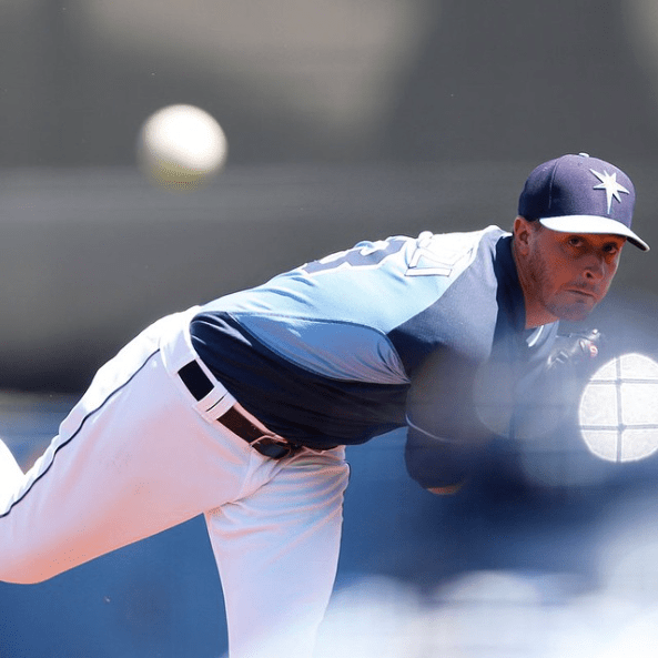 Rays starter Jake Odorizzi pitched into the sixth inning Saturday. (Photo courtesy of the Tampa Bay Rays)