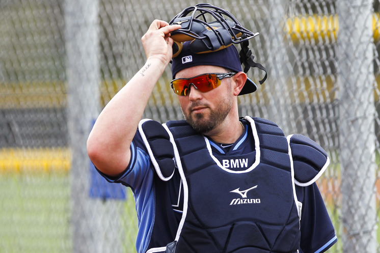 Bobby Wilson edged Curt Casali to earn the spot as the backup catcher. (Photo courtesy of Will Vragovic/Tampa Bay Times)